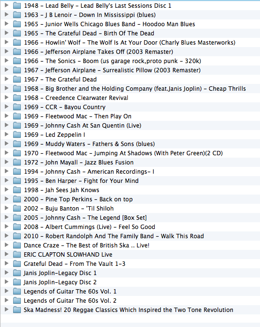 A look into my music player - 9th July 2013 Screenshot