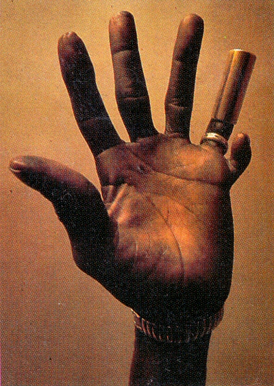 Hound Dog Taylor's six fingered hand