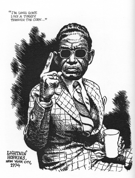 Lightnin' Hopkins - Illustration by Robert Crumb