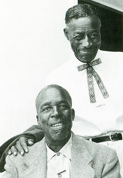 Mississippi blues greats Skip James (left) and Son House were both rediscovered in 1964.